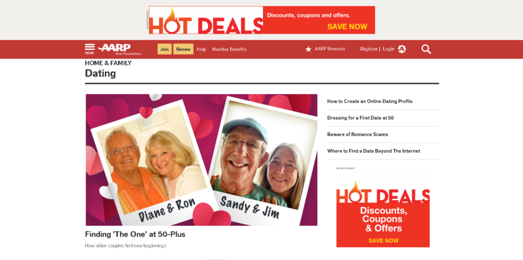 AARP dating site review